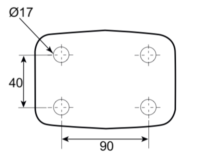 Crochet mixte 4 trous